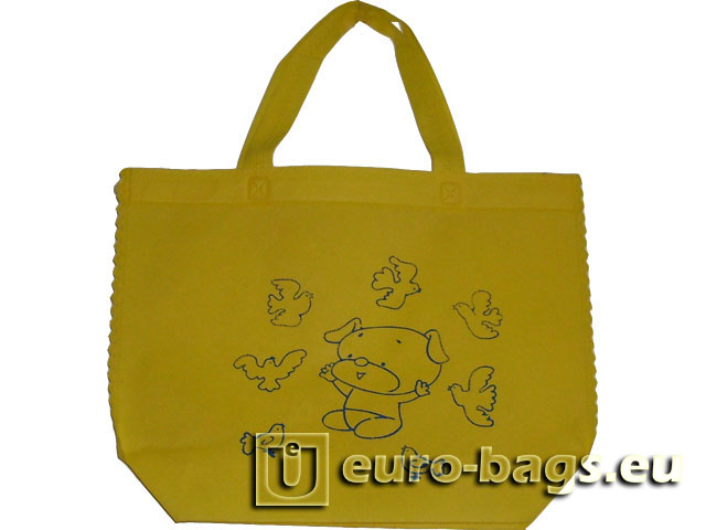 Bear Pigeons Ultrasonic Welded Non Woven Fabric Shopping Bag