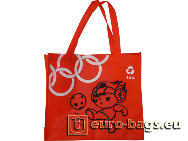 Beijing Olympic Red Non Woven Fabric Promotional Bag