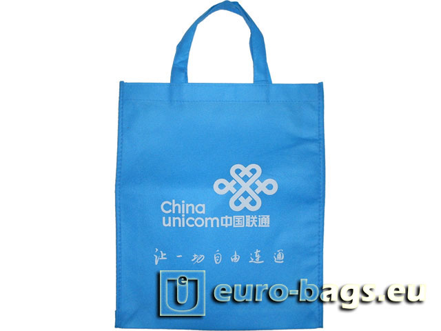 China Unicom Blue Non Woven Fabric Carrier Bag