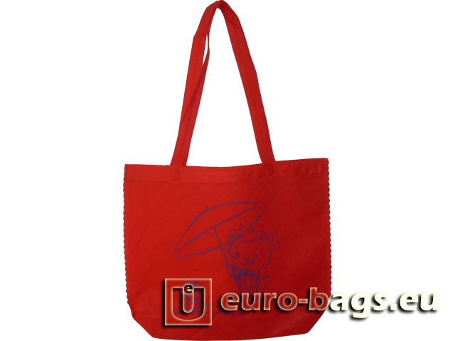 Father & Son Ultrasonic Welded Non Woven Fabric Shopping Bag