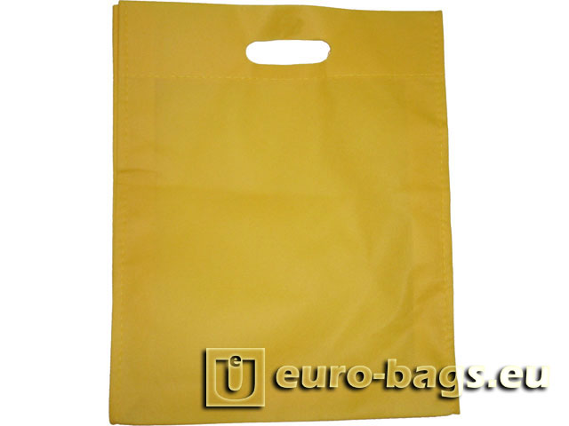 Plain Yellow Non Woven Fabric Carrier Bag