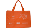 Cpic Orange Non Woven Fabric Promotional Bag