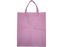 Plain Pink Non Woven Fabric Carrier Bags