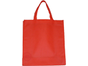 Plain Red Non Woven Fabric Carrier Bag