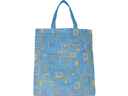 Sky Blue Foldable Non Woven Designer Shopping Bag